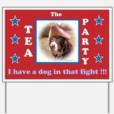 Dog in Fight Yard Sign