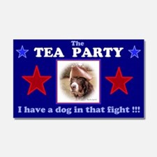Dog in Fight Car Magnet 20 x 12