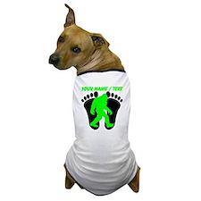 Custom Bigfoot Footprint Dog T-Shirt