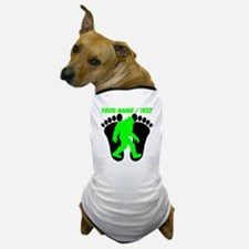 Custom Bigfoot Footprint Dog T-Shirt