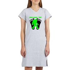 Custom Bigfoot Footprint Women's Nightshirt