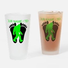 Custom Bigfoot Footprint Drinking Glass