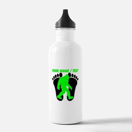 Custom Bigfoot Footprint Water Bottle