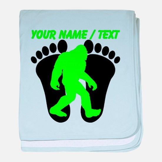 Custom Bigfoot Footprint baby blanket