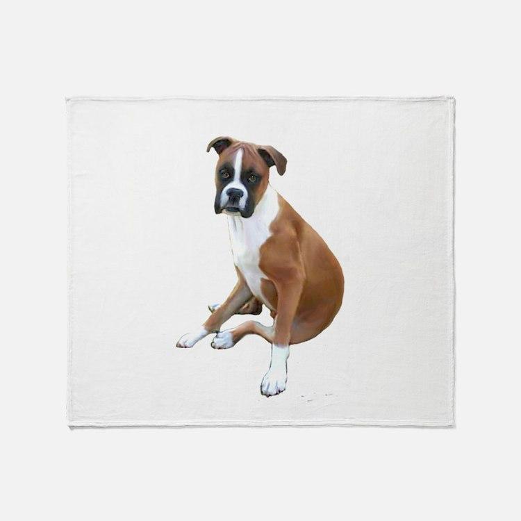 Boxer #6 (fawn) Throw Blanket