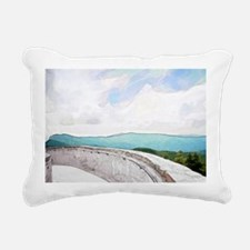 View from Mt. Mitchell Rectangular Canvas Pillow