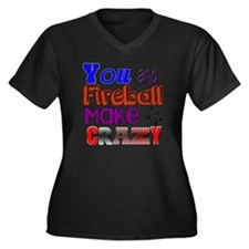 You And Fire Women's Plus Size Dark V-Neck T-Shirt