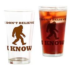 Bigfoot I Know Drinking Glass