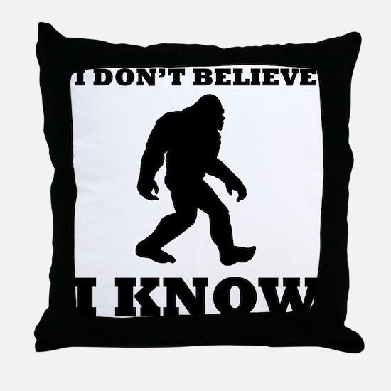 Bigfoot I Know Throw Pillow