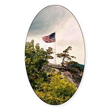 Flag Over Chimney Rock Decal
