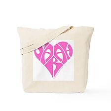 Sarah pink heart Tote Bag