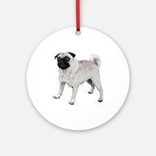 Cute pug Ornament (Round)