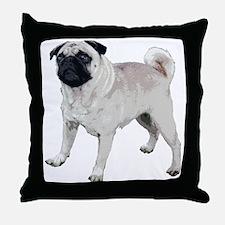 Cute pug Throw Pillow