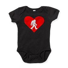Bigfoot Heart Baby Bodysuit