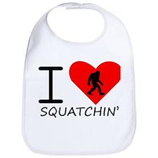 I Heart Squatchin Bib