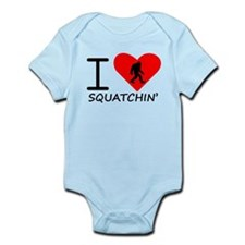 I Heart Squatchin Body Suit
