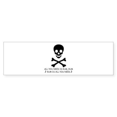 RUM Bumper Sticker