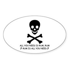 RUM Oval Decal