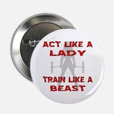 "Train Like A Beast 2.25"" Button"