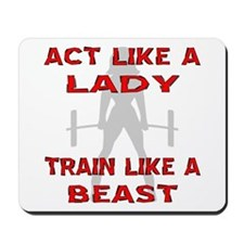 Train Like A Beast Mousepad