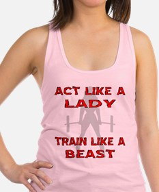 Train Like A Beast Racerback Tank Top