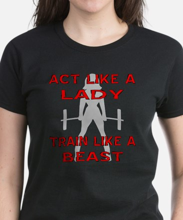 Train Like A Beast Women's Dark T-Shirt
