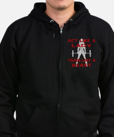 Train Like A Beast Zip Hoodie