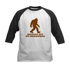 Bigfoot Ate My Homework Baseball Jersey