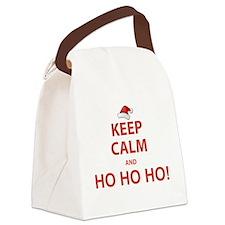 Keep Calm and Ho Ho Ho Canvas Lunch Bag