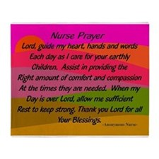 Nurse Prayer Blanket 2 Throw Blanket