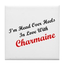 In Love with Charmaine Tile Coaster