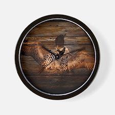 barnwood wild loon Wall Clock