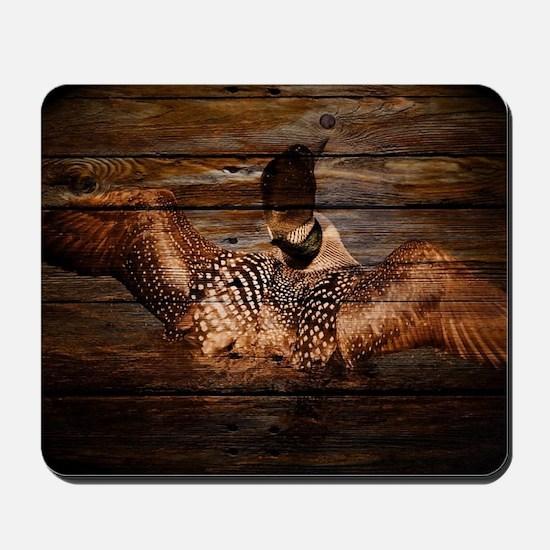 barnwood wild loon Mousepad