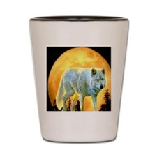 moonlight wolf Shot Glass