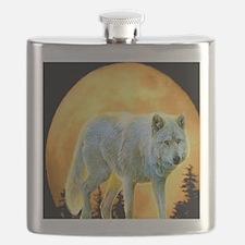 moonlight wolf Flask