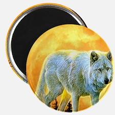 moonlight wolf Magnet