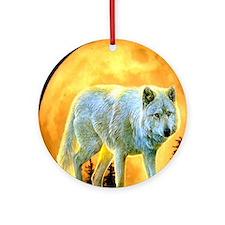 moonlight wolf Round Ornament