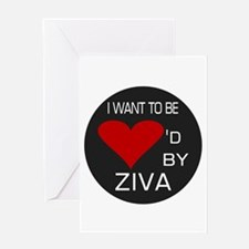 Loved By Ziva Greeting Card