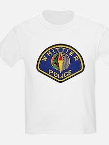 Whittier Police Kids T-Shirt