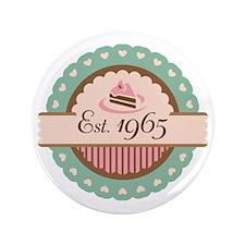 "1965 Birth Year Birthday 3.5"" Button"