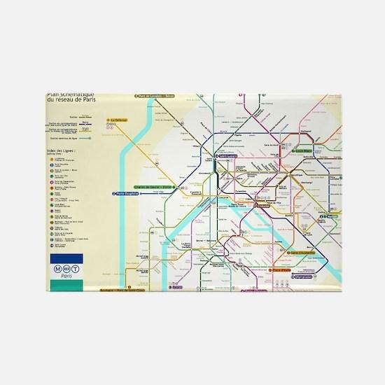 Paris Metro Map Magnets