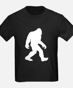White Bigfoot Silhouette T-Shirt