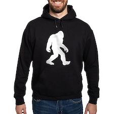 White Bigfoot Silhouette Hoodie