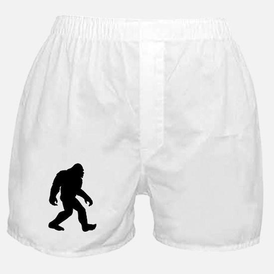 Bigfoot Silhouette Boxer Shorts