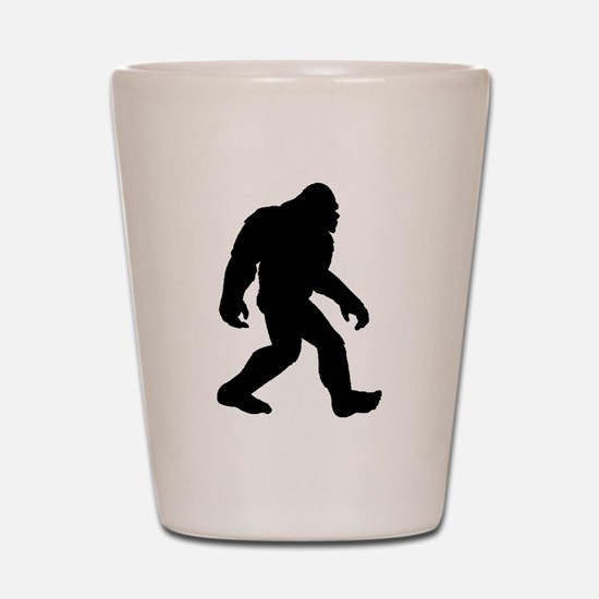 Bigfoot Silhouette Shot Glass