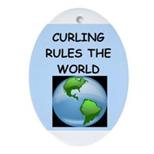 curling Ornament (Oval)