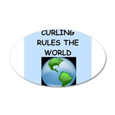 curling Wall Decal