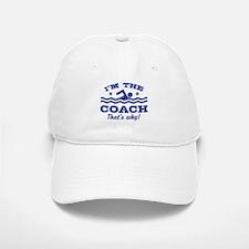 Funny Swim Coach Baseball Baseball Cap