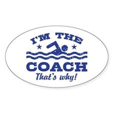 Funny Swim Coach Decal