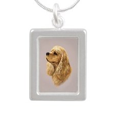 Cocker Spaniel (American) Silver Portrait Necklace